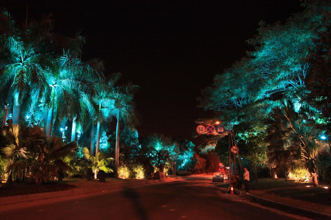 深圳前海路星光大道景观照明