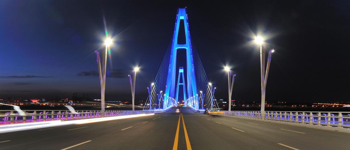 鄂尔多斯康巴什大桥灯光
